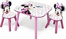 Minnie Mouse Kleiner Tisch und Stühle (Rosa)
