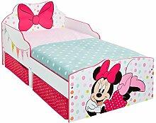 Minnie Mouse Kleinkinderbett Holz Weiß 142 x 77 x