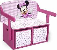 Minnie Mouse Sitzbank & Schreibtisch mit Stauraum
