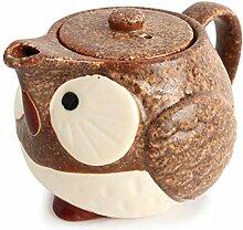 Mino ware CPK002 Teekanne Kyusu Eule, japanische