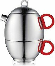 Minos Atemberaubende poliert Teekanne und Tasse