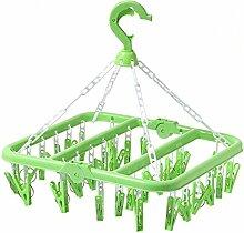 MINQISU Kunststoff Rund Wäscheklammer Hanger