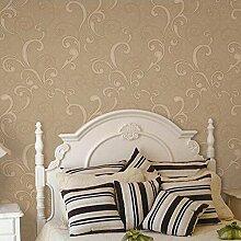 MINRAN DECOR Moderne umweltfreundliche Wandtapetebild Muster tapete fuer Wohnzimmer,Schlafzimmer, A25030 , gold , 1000cm*53cm