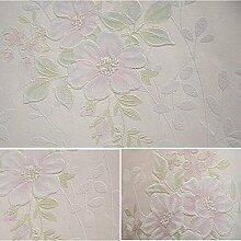 MINRAN DECOR Pastoral Blumen Vlies Tapete fuer Wohnzimmer,Schlafzimmer 950CM*53CM , A35070 , light pink , 950cm*53cm