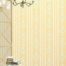 MINRAN DECOR umweltfreundliche Wandtapetebild Mustertapete fuer Wohnzimmer,Einfacher europäischer Stil 950x53 cm ,A27120 , Gold