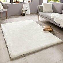Mint Rugs Superior Weicher Kunstfell Teppich, Uni