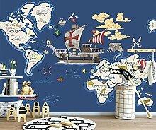 Minyose Tapeten-Weltkarte-Ozean-Karte
