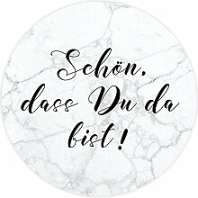 miomodo Aufkleber Gastgeschenke Marmor - Schön