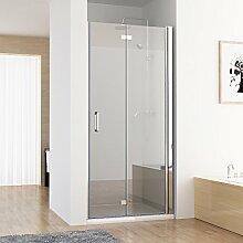 MIQU Nischentür Duschabtrennung Duschwand Dusche