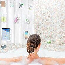 miraculocy Duschvorhang Transparenter Duschvorhang