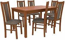 Mirjan24  Essgruppe mit 6 Stühlen DM17, Esstisch