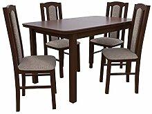 Mirjan24  Esstisch mit 4 Stühlen DM08, Esstisch +