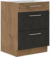 Mirjan24 Küchenschränke Woodline Unterschrank