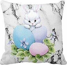 MIRRAY Ostern Leinen Platz Bunte Kaninchen