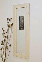 MirrorOutlet Groß Weiß natürliches Massivholz