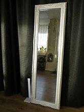 MirrorOutlet Großer Wandspiegel Silber antik Stil
