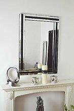 MirrorOutlet Modern Schwarz und Silber Triple