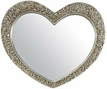 MirrorOutlet V Silber Herzform groß antik