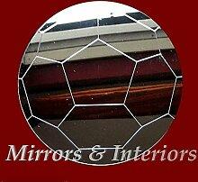 Mirrors-Interiors Kinderzimmerspiegel Fußball, geätzt, 10cm, bruchsicheres Acrylglas 40 cm