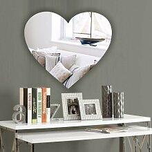 Mirrors-Interiors Schlafzimmer-Spiegel, herzförmig, bruchsicherer Sicherheitsspiegel aus Acryl, 10cm 50 cm