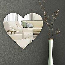 Mirrors-Interiors Schlafzimmer-Spiegel, herzförmig, bruchsicherer Sicherheitsspiegel aus Acryl, 10cm 20 cm
