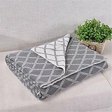 MIRUIKE Baumwolle Knit Überwurf Decke