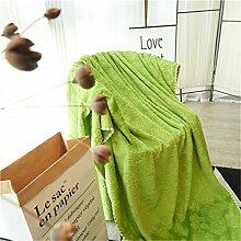 MIRUIKE Sommer Überwurf-Decke für Nap Flanell