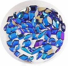Mischform 100pcs Crystal AB 3D Nail Art Strass