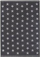 misento 282654 Teppich 100% Polyamid 190 x 133 x 0,6 cm, dunkelgrau