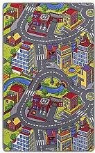misento Kinderteppich Spielteppich Straßenteppich