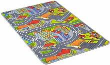 misento Kinderteppich Spielteppich Straßenteppich Spielmatte Kleinstadt Auto Teppich Kinderzimmer Spielunterlage Verkehrs Teppich für Fußbodenheizung geeignet allergikergeeignet schadstofffrei