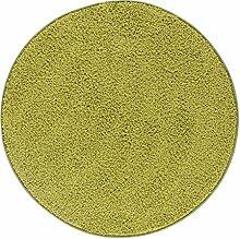 misento Shaggyteppich, Langflor, Hochflor, Runder-Teppich, Wohzimmer, Esszimmer, weicher Flor, uni-Farben, schadstofffrei, strapazierfähig, pflegeleicht, 100% Polypropylen, Ø100cm