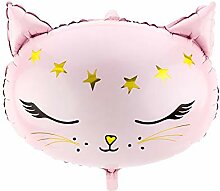 Miss Lovely XXL Folien-Ballon Katze Kitty rosa