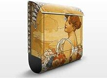 Miss Summer 39x46x13cm Briefkasten, Standbriefkasten, Briefkästen, Kunst, Jugendstil, Gemaelde, Nostalgie, Blumen