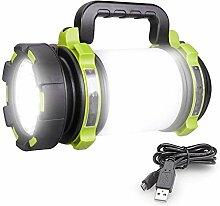 MissGao LED-Taschenlampe wiederaufladbar, 4000mAh