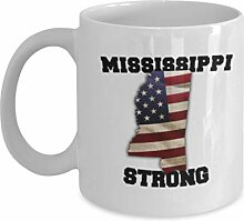 Mississippi State Coffee Mug - Porzellan Weiß
