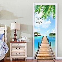 Missixty 3D-Tür-Wand-Tapeten-Aufkleber, Vinyl,