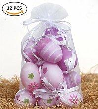 Misslight Ostern Ornamente Dekoration perfekt für Ostern Baum Garten Tisch Pack von 12 Multi-Choice (3, 12-PCS)
