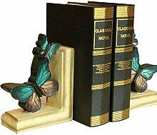 misslight Vintage Blue Butterfly Buchstützen