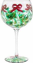Mistelzweig Weihnachten Glas Gin Tonic Ballon Gin