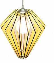 Mister Karton Vega Lampe Aussetzung 30 x 34 cm gelb