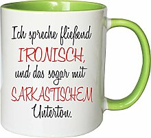 Mister Merchandise Becher Tasse Fließend ironisch