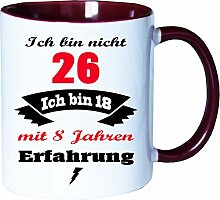 Mister Merchandise Becher Tasse Ich Bin Nicht 26