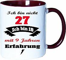 Mister Merchandise Becher Tasse Ich Bin Nicht 27