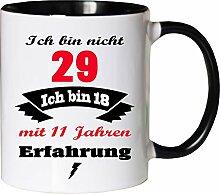 Mister Merchandise Becher Tasse Ich Bin Nicht 29
