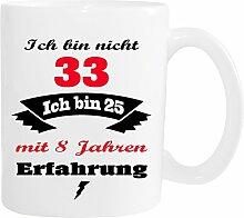 Mister Merchandise Becher Tasse Ich Bin Nicht 33