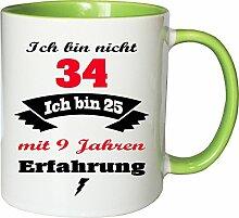 Mister Merchandise Becher Tasse Ich Bin Nicht 34