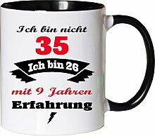 Mister Merchandise Becher Tasse Ich Bin Nicht 35
