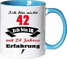 Mister Merchandise Becher Tasse Ich Bin Nicht 42