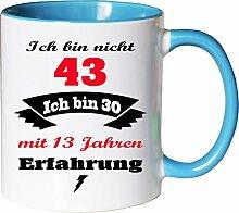 Mister Merchandise Becher Tasse Ich Bin Nicht 43